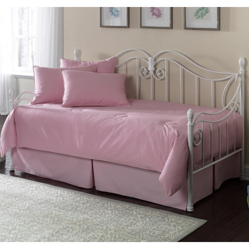Fashion Bed Group Daybeds Stephanie Daybed w/ Linkspring