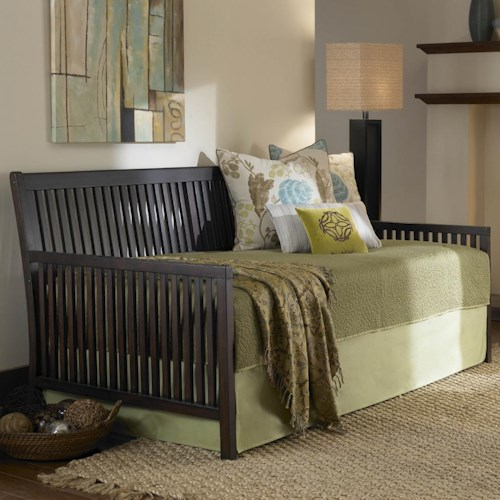 Fashion Bed Group Daybeds Mission Daybed w/ Linkspring