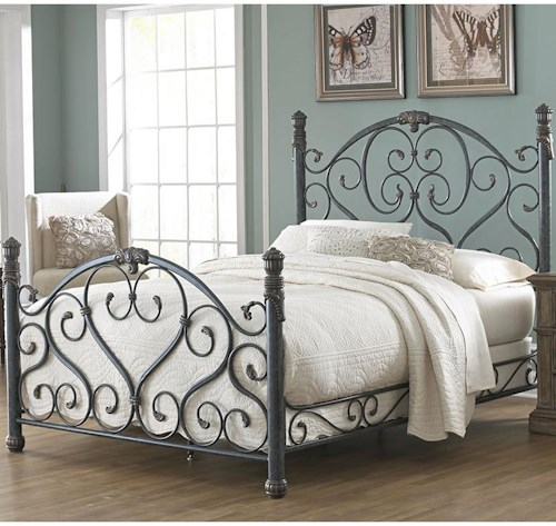 Fashion Bed Group Duchess California King Bed with Scroll Work