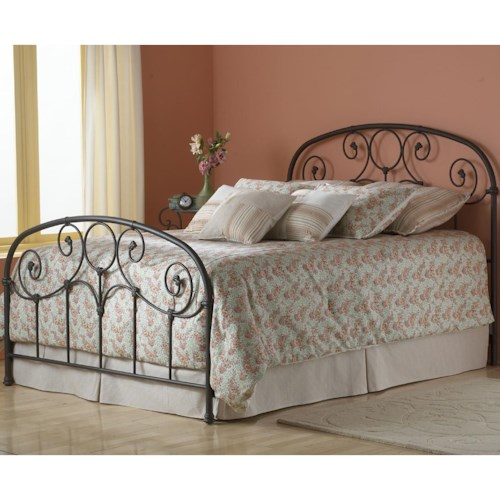 Fashion Bed Group Grafton King Bed Without Frame and with Scroll Work