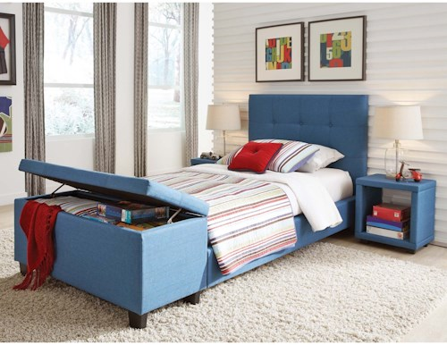 Fashion Bed Group Henley Full Henley Storage Bedroom Group with Footboard Bench and Nightstands