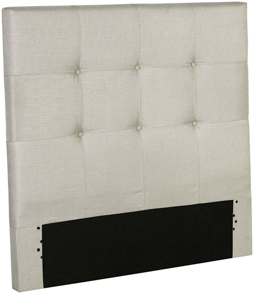 Fashion Bed Group Henley Twin Henley Upholstered Kids Headboard Panel with Button Tufted Design