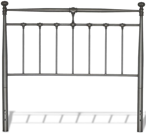 Fashion Bed Group Kensington Queen Kensington Metal Headboard with Stately Posts and Detailed Castings