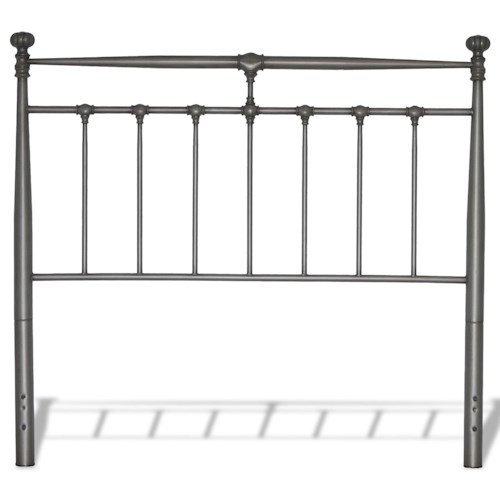 Fashion Bed Group Kensington California King Kensington Metal Headboard with Stately Posts and Detailed Castings