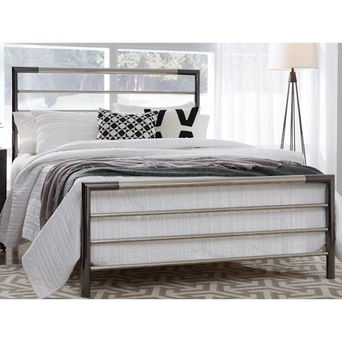Fashion Bed Group Kenton Full Kenton Complete Metal Bed with Horizontal Bar Design