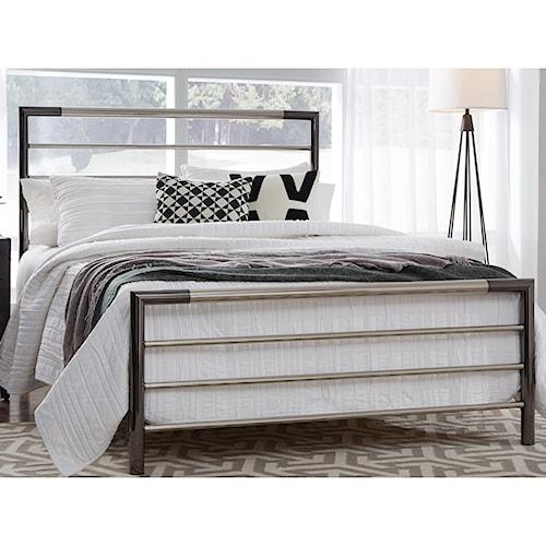 Fashion Bed Group Kenton Full Kenton Complete Metal Bed with Horizontal Bar Design