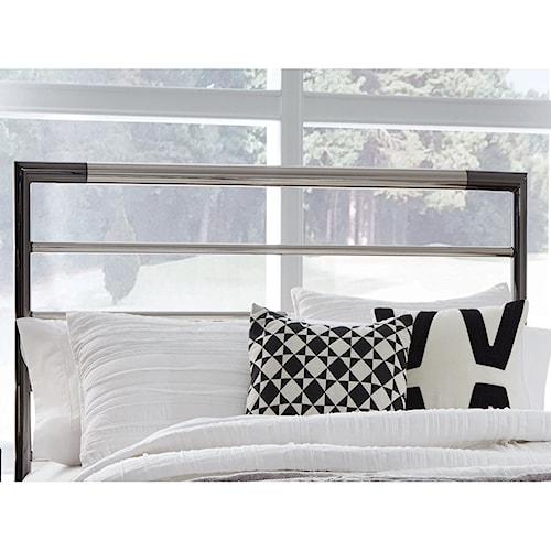 Fashion Bed Group Kenton Full Kenton Metal Headboard with Horizontal Bar Design