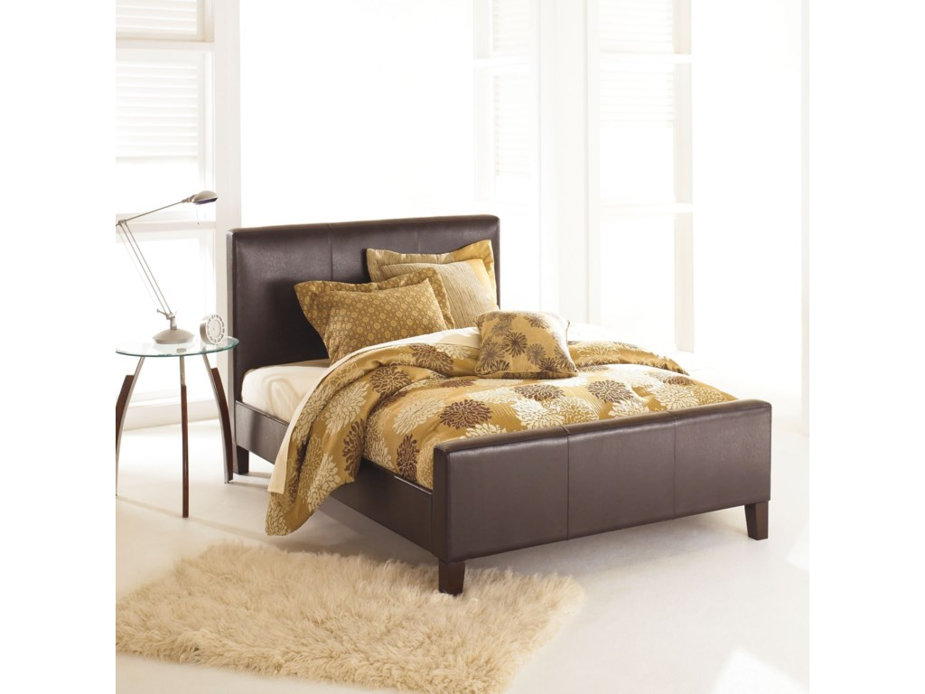 Fashion Bed Group LeatherFull Euro Bed