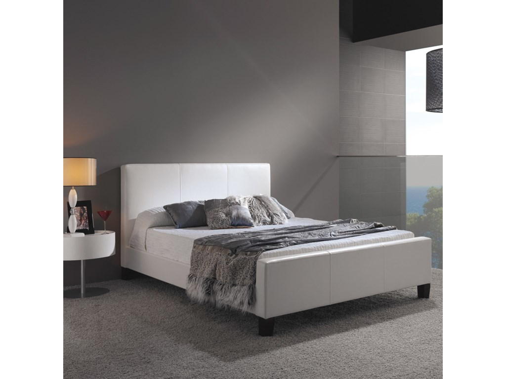 Fashion Bed Group LeatherCalifornia King Euro Bed
