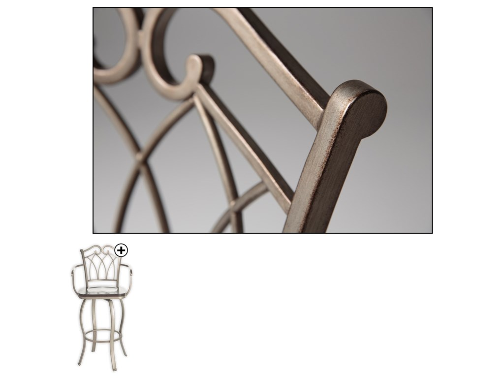 Fashion Bed Group Metal BarstoolsRichmond Wood and Metal Barstool