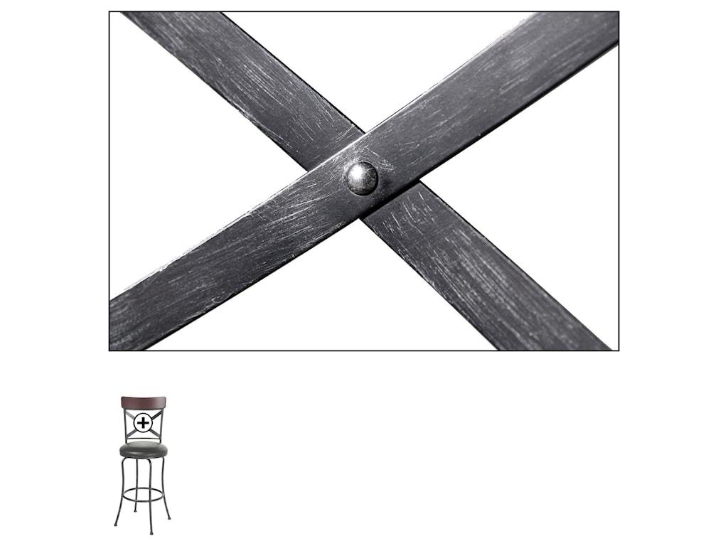 Fashion Bed Group Metal BarstoolsAustin Wood and Metal Barstool