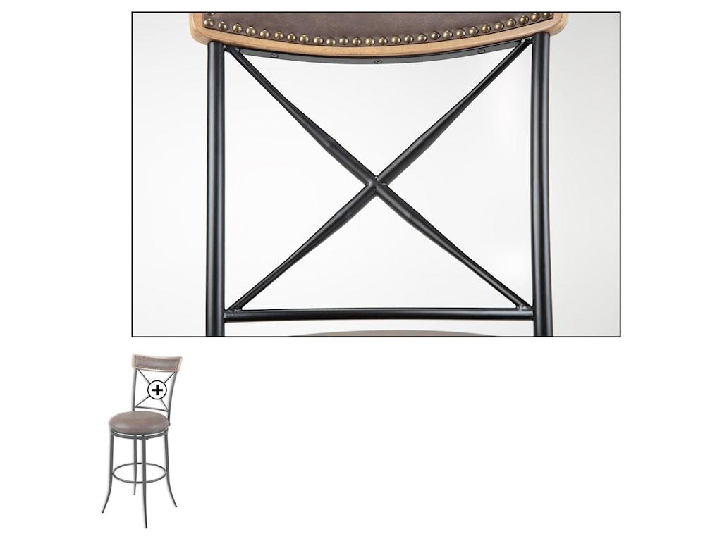 Fashion Bed Group Metal BarstoolsBoise Wood and Metal Barstool
