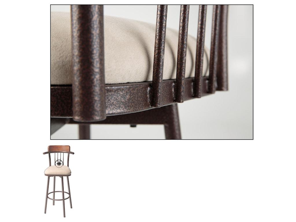 Fashion Bed Group Metal BarstoolsAugustana Wood and Metal Barstool