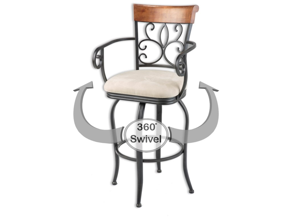 Fashion Bed Group Metal BarstoolsHartford Wood and Metal Barstool
