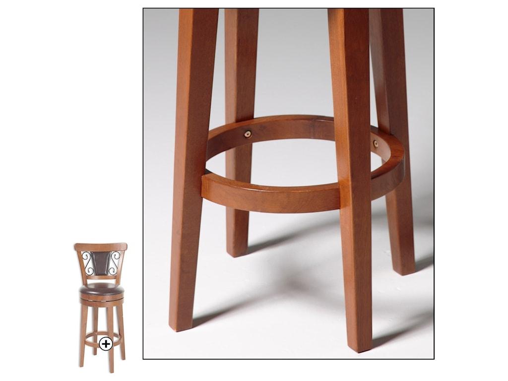 Fashion Bed Group Metal BarstoolsTrenton Wood and Metal Barstool