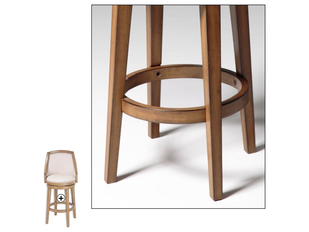 Fashion Bed Group Metal BarstoolsCharleston Wood and Metal Barstool