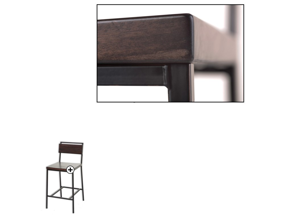 Fashion Bed Group Metal BarstoolsOlympia Wood and Metal Barstool