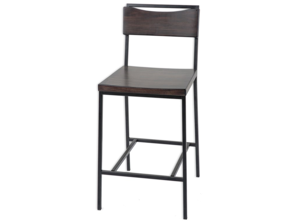 Fashion Bed Group Metal BarstoolsColumbus Wood and Metal Barstool