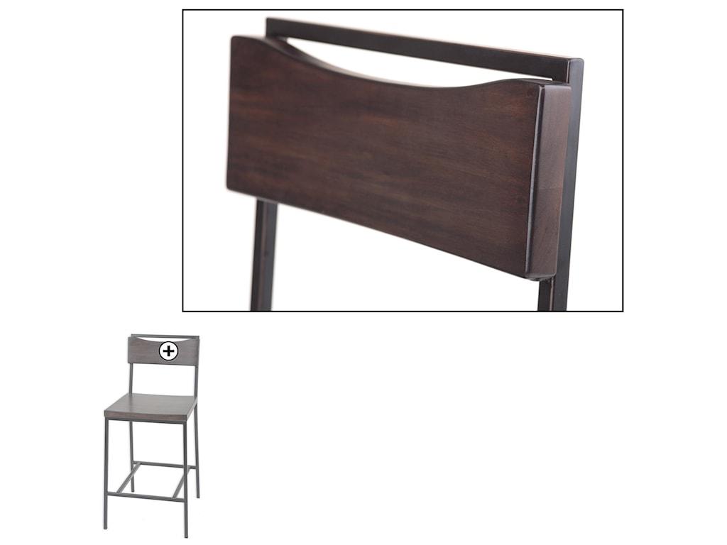 Fashion Bed Group Metal BarstoolsColumbus Wood and Metal Barstool