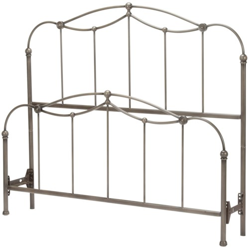 Fashion Bed Group Metal Beds Affinity King Bed with Metal Spindle Panels and Detailed Castings