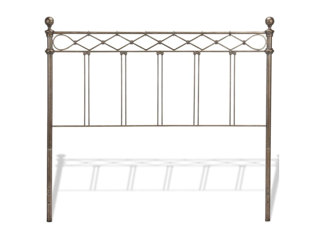 Fashion Bed Group Metal BedsQueen Argyle Metal Headboard and Footboard