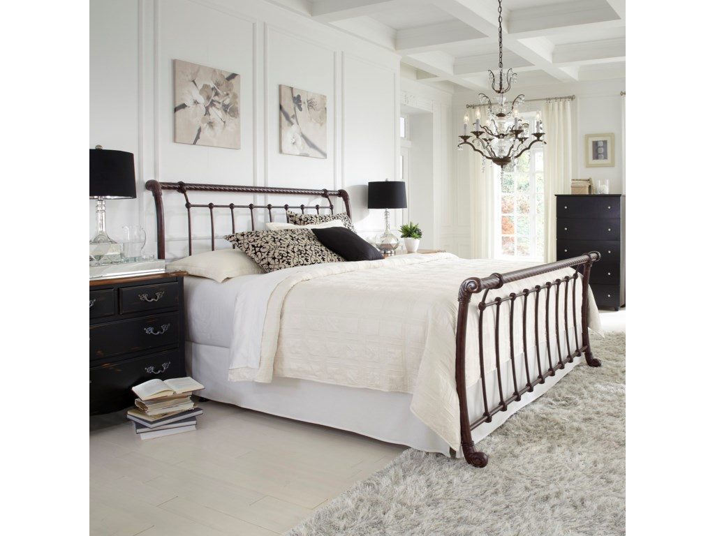 Fashion Bed Group Metal BedsKing Legion Headboard and Footboard