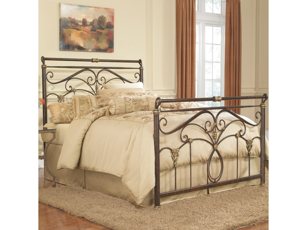 Fashion Bed Group Metal BedsKing Lucinda Headboard and Footboard