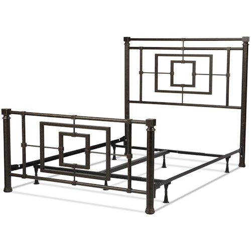 Fashion Bed Group Metal Beds Queen Transitional Sheridan Metal Ornamental Bed