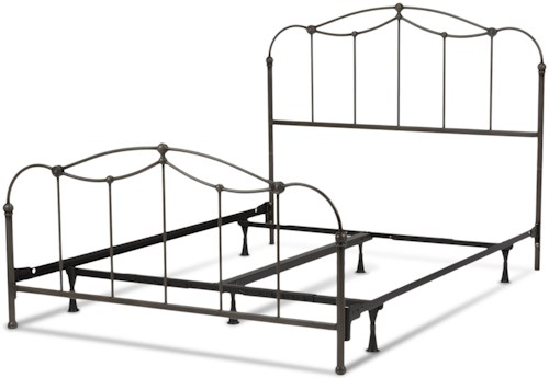 Fashion Bed Group Metal Beds King Transitional Affinity Metal Ornamental Bed