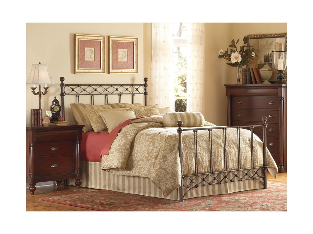 Fashion Bed Group Metal BedsQueen Argyle Metal Bed