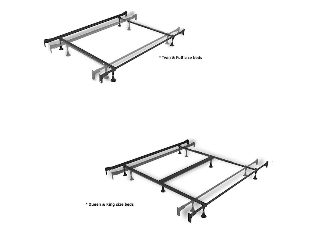 Fashion Bed Group Metal BedsKing Legion Bed w/ Frame