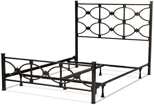 Fashion Bed Group Metal Beds California King Contemporary Marlo Metal Ornamental Bed
