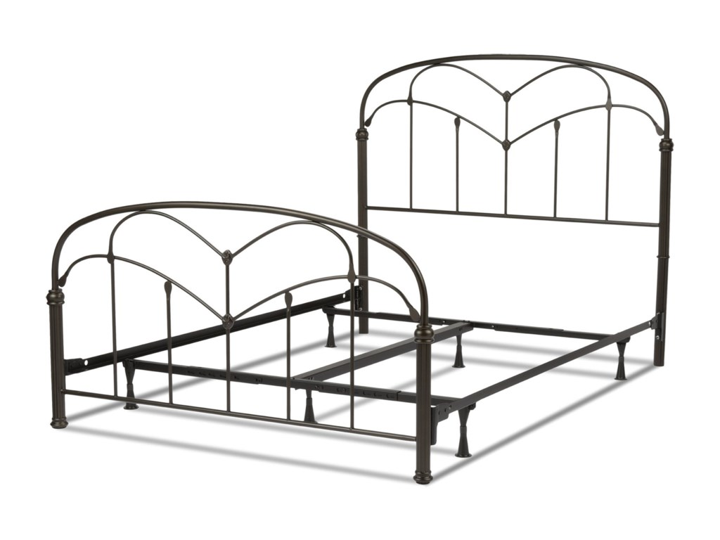 Fashion Bed Group Metal BedsKing Pomona Bed w/ Frame