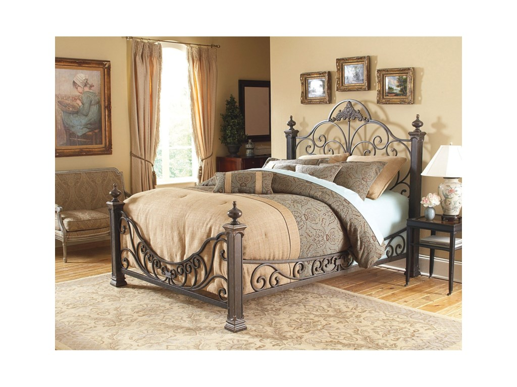 Fashion Bed Group Metal BedsQueen Baroque Metal Bed