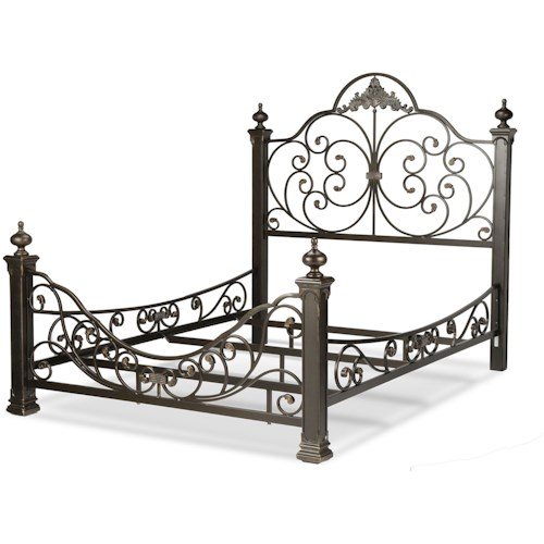 Fashion Bed Group Metal Beds King Baroque Metal Bed