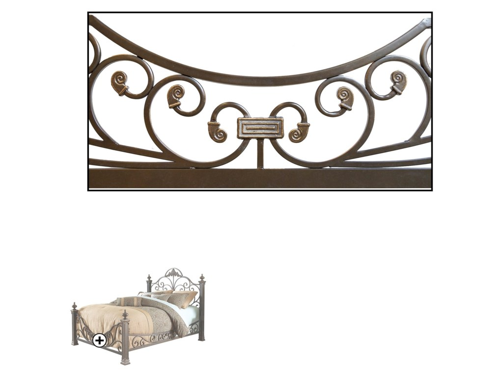 Fashion Bed Group Metal BedsCalifornia King Baroque Metal Bed