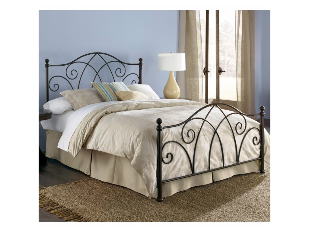 Fashion Bed Group Metal BedsCal King Deland Bed