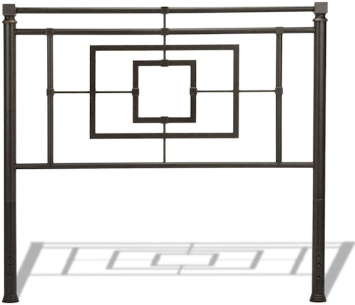 Fashion Bed Group Metal Beds King Tranistional Sheridan Metal Headboard
