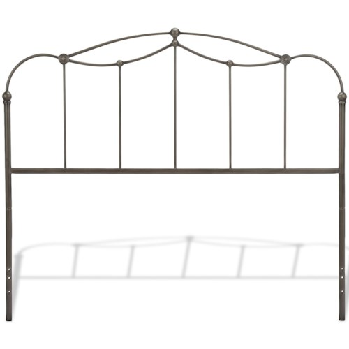 Fashion Bed Group Metal Beds California King Transitional Affinity Metal Headboard