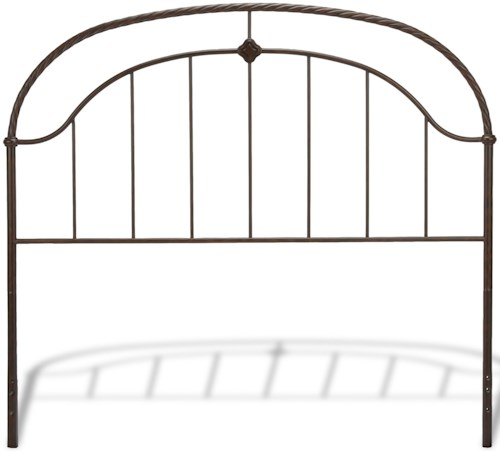 Fashion Bed Group Metal Beds Full Transitional Cascade Metal Headboard
