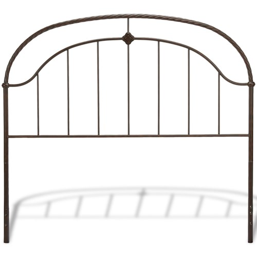 Fashion Bed Group Metal Beds Queen Transitional Cascade Metal Headboard