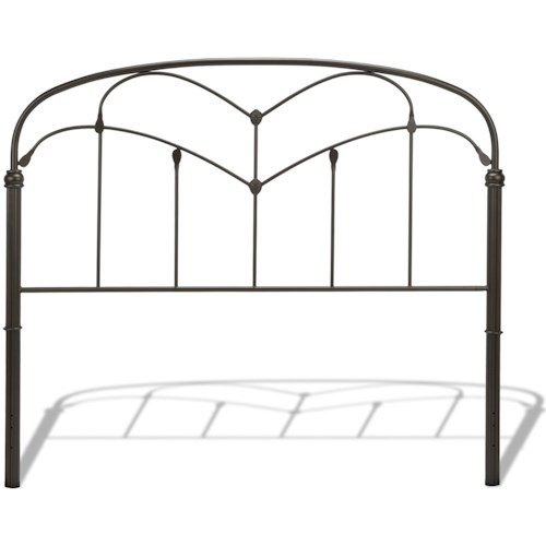 Fashion Bed Group Metal Beds Queen Pomona Headboard