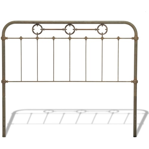 Fashion Bed Group Metal Beds Full Transitional Madera Metal Headboard