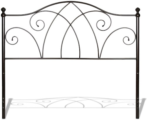 Fashion Bed Group Metal Beds Full Deland Headboard w/ Finials
