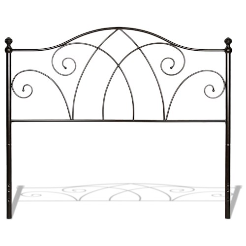 Fashion Bed Group Metal Beds King Deland Headboard w/ Finials
