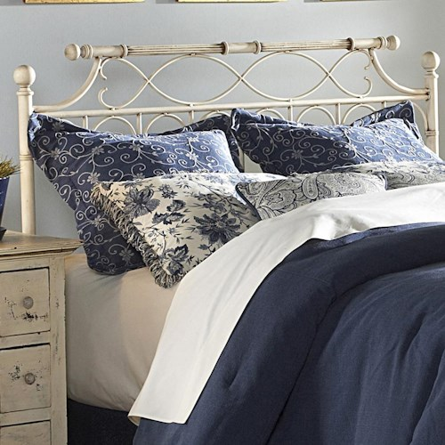 Fashion Bed Group Metal Beds Queen Chester Headboard
