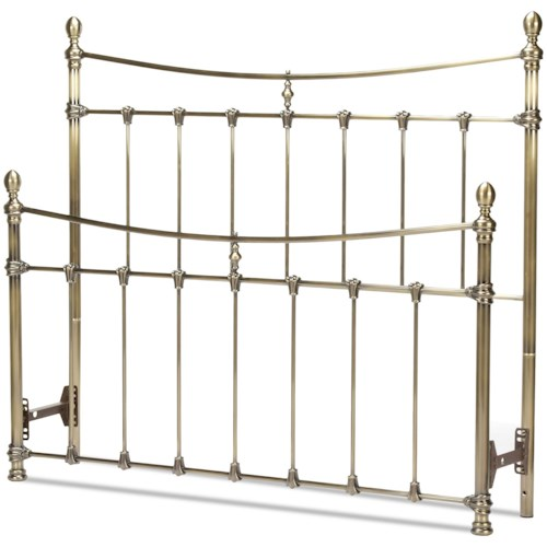 Fashion Bed Group Metal Beds California King Leighton Headboard and Footboard with Metal Panels and Scalloped Castings