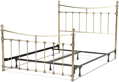 Fashion Bed Group Metal Beds King Leighton Bed w/ Frame