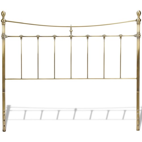 Fashion Bed Group Metal Beds Full Leighton Headboard w/ Tear Drop Finials