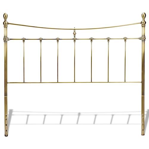 Fashion Bed Group Metal Beds Queen Leighton Headboard w/ Tear Drop Finials